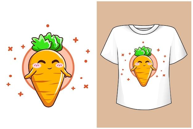Maquete de cenoura fofa e divertida