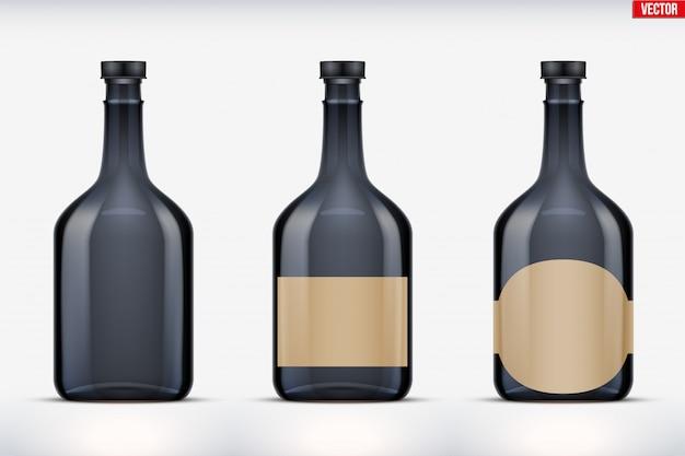 Maquete de conjunto de garrafa de rum