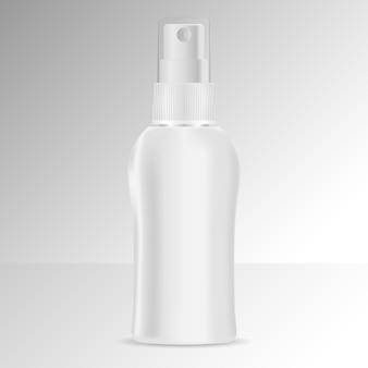 Maquete de cosméticos de frasco de spray.