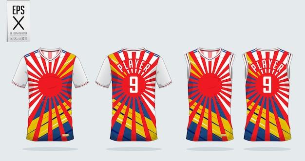 Maquete de design de esporte de t-shirt