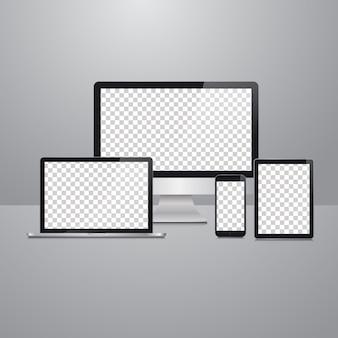 Maquete de dispositivos vetoriais
