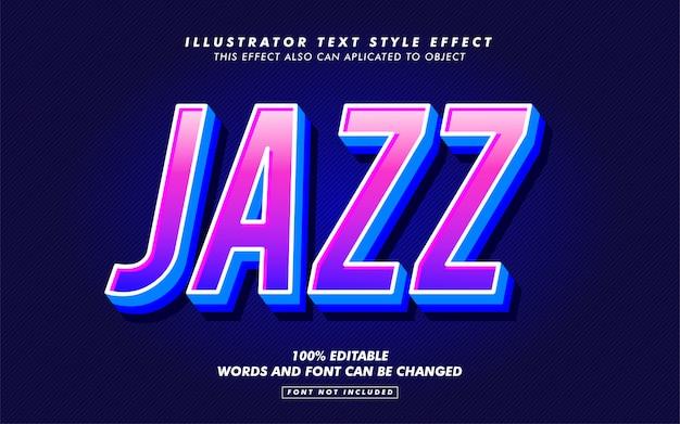 Maquete de efeito de estilo de texto de disco de jazz