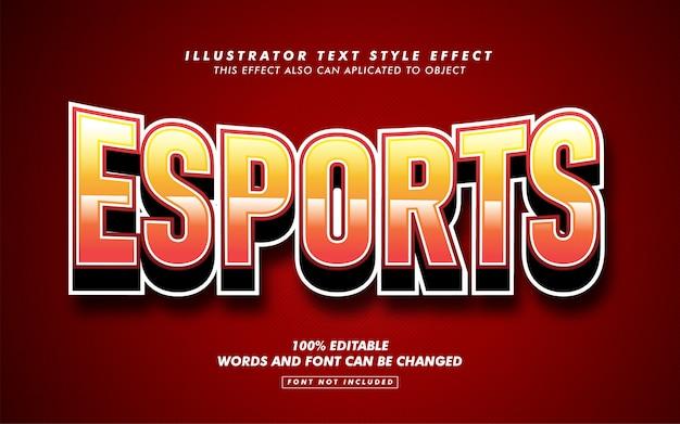 Maquete de efeito de estilo de texto de esporte