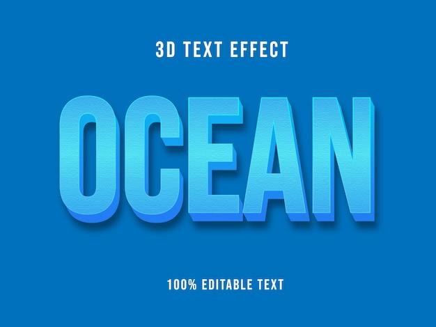 Maquete de efeito de texto azul 3d editável