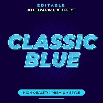 Maquete de efeito de texto azul clássico