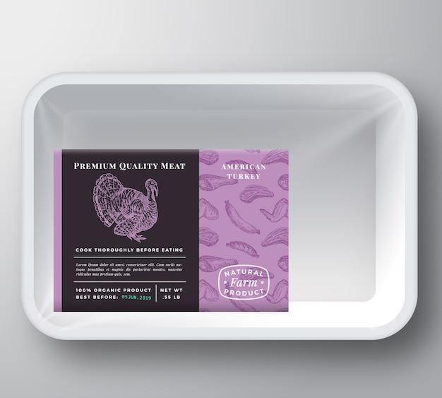 Maquete de embalagem de recipiente de bandeja de plástico de peru