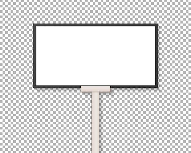 Maquete de exibição de outdoor em branco. placa de carrinho de publicidade ao ar livre.