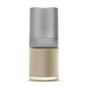 Maquete de frasco cosmético de vidro esmalte de creme de beleza
