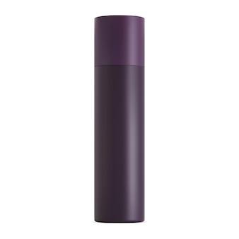Maquete de frasco de spray lata de aerossol de spray de cabelo em branco modelo de cilindro de ambientador