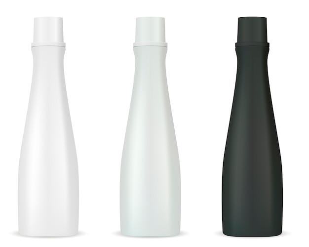 Maquete de frascos cosméticos para shampoo gel