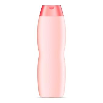Maquete de garrafa cosmética de forma curva para shampoo