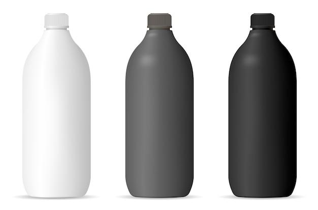 Maquete de garrafas para produtos domésticos cosméticos