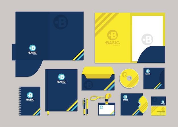 Maquete de identidade de doze ícones