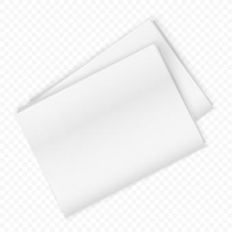 Maquete de jornal em branco isolado