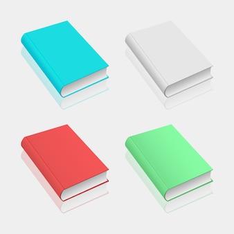 Maquete de livro isolada em fundo cinza