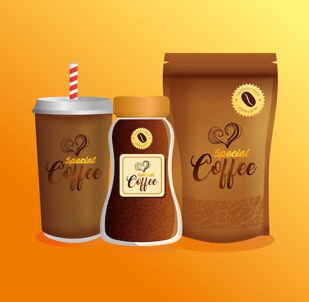 Maquete de marca de café, restaurante, maquete de identidade corporativa, café especial descartável