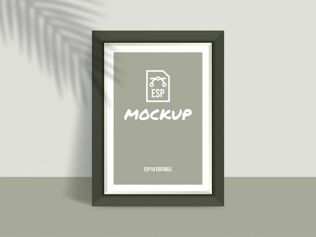 Maquete de moldura de foto com tela em branco