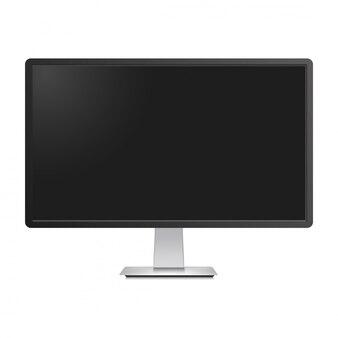 Maquete de monitor de tv realista isolado