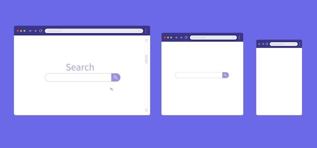 Maquete de navegador para tablet e smartphone