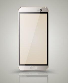 Maquete de ouro smartphone. ilustração vetorial.