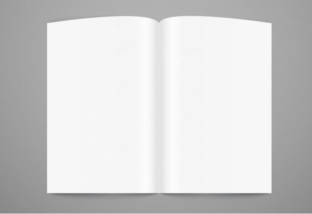 Maquete de página de livro aberto. pronto para um conteúdo