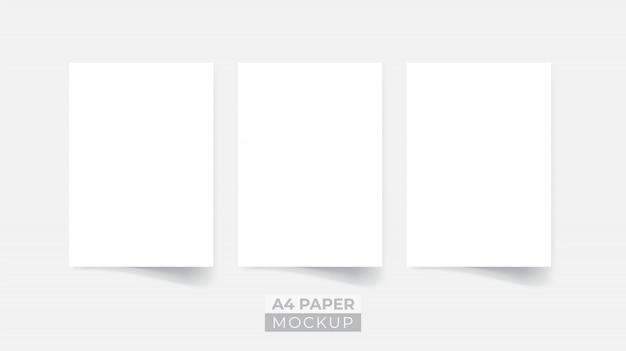 Maquete de panfleto de papel 3d realista