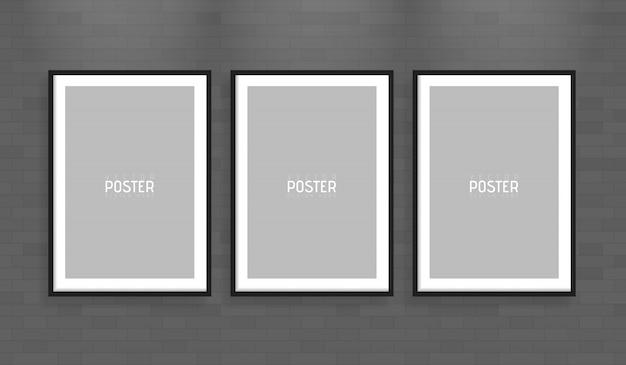 Maquete de quadro de papel de vetor a4 branco vazio de tamanho. mostre seus folhetos, brochuras, manchetes etc. com este elemento de modelo de design realista altamente detalhado