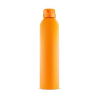 Maquete de recipiente de vetor em branco de spray desodorante modelo de ambientador de lata de aerossol