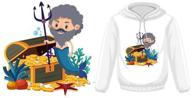 Maquete de roupa temática de merman