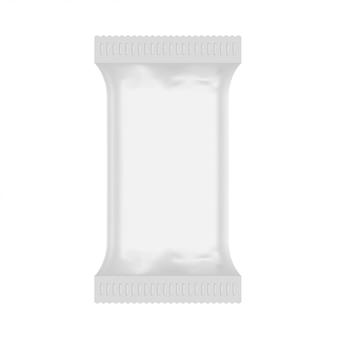 Maquete de saco de plástico branco