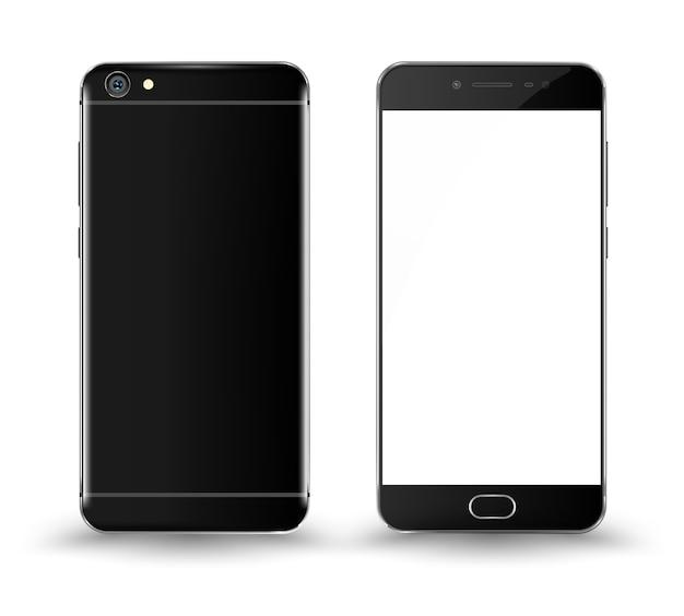 Maquete de smartphone frontal e traseira