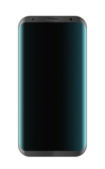 Maquete de smartphone moderno isolado no branco