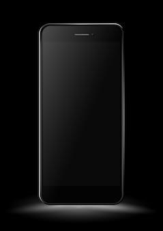 Maquete de smartphone preto