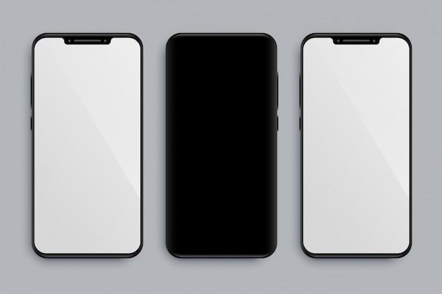Maquete de smartphone realista com frente e verso