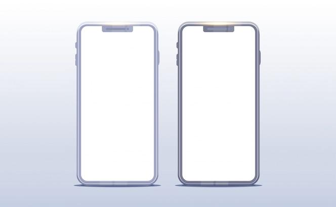 Maquete de smartphone. Realistic Front Mobile Device Concept.