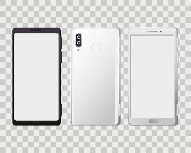 Maquete de smartphones realistas
