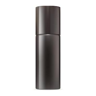 Maquete de spray de desodorante frasco de aerossol de alumínio em branco recipiente de ambientador de ar realista