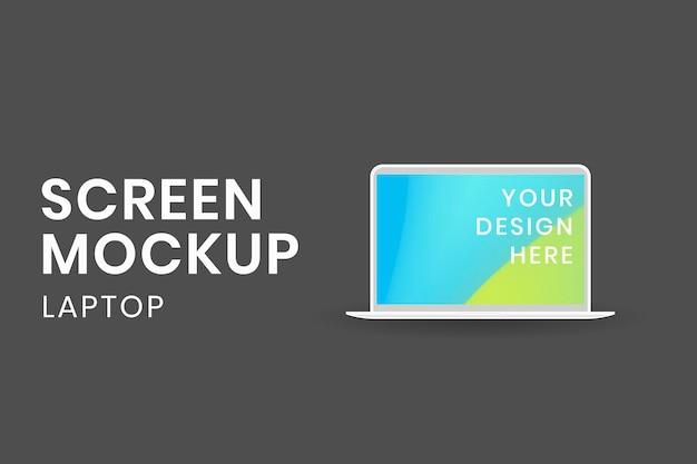 Maquete de tela de laptop, ilustração vetorial de dispositivo digital