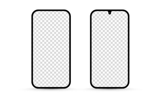 Maquete de tela isolada em branco