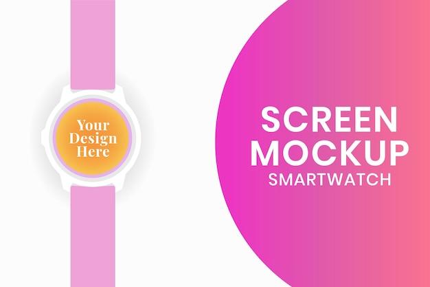 Maquete de tela smartwatch, ilustração em vetor dispositivo rastreador de saúde