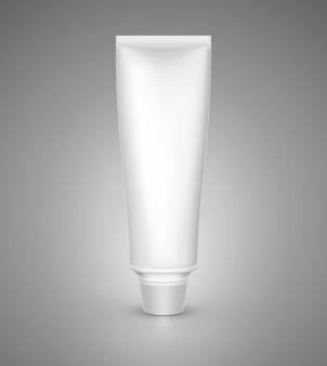 Maquete de tubo branco para creme, pasta de dente, gel, molho, tinta, cola.