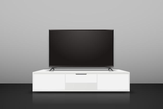 Maquete de tv inteligente realista.