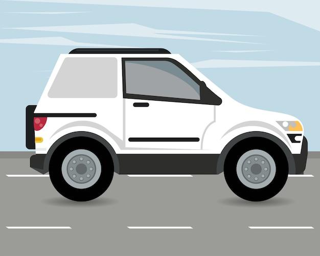 Maquete de veículo para trailer