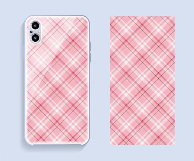 Maquete de vetor de design de capa de smartphone.