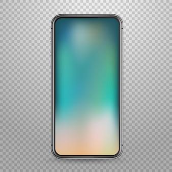 Maquete de vetor de dispositivo tablet moderno isolada em transparente. coloque qualquer conteúdo na tela