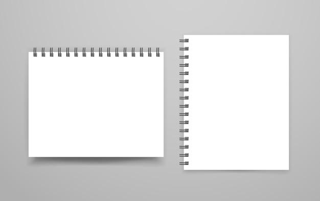 Maquete de vetor de fichário branco em branco. modelo de identidade