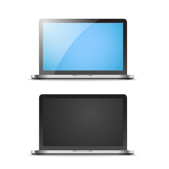 Maquete de vetor de laptop moderno