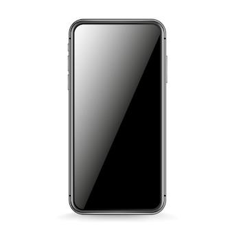 Maquete de vetor de smartphone moderno isolado no branco. smartphone com fundo gradiente. coloque qualquer conteúdo na tela