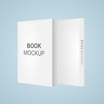 Maquete de vetor dois livros frente e verso