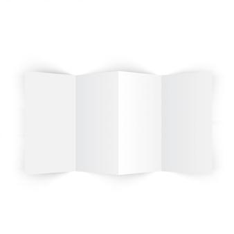 Maquete do folheto do acordeão de quatro dobras